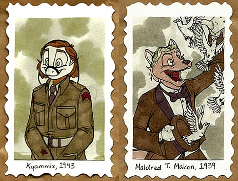 1940's Badges -- Kyammix + Moldred by Geistlicher