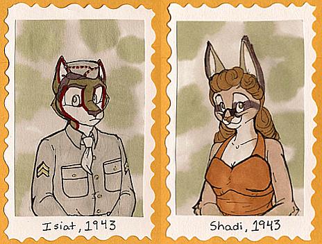 1940's Badges -- Isiat + Shadi by Geistlicher