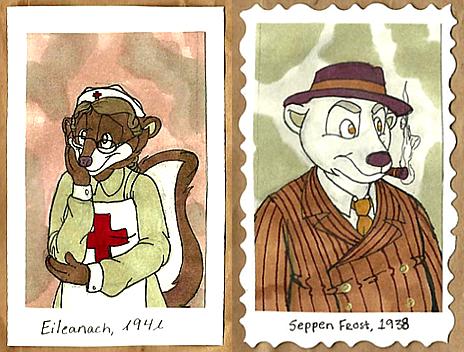 1940's Badges -- Eileanach + Seppen by Geistlicher