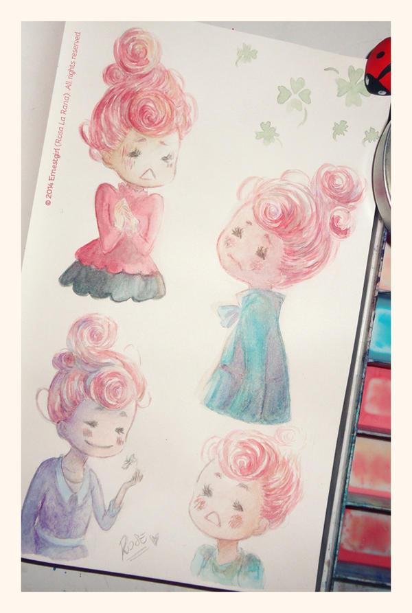 Rose - Sketches :3 by Ernestgirl