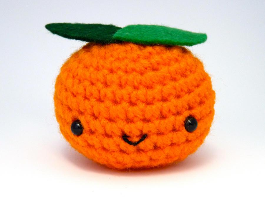 Peelable Orange Amigurumi : Amigurumi- Orange Clementine by button-tree on DeviantArt