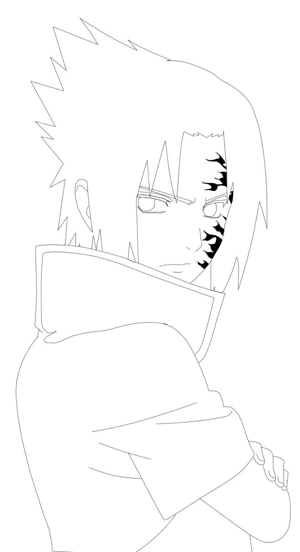 Sasuke Lineart : Sasuke lineart by fenixorgadm on deviantart