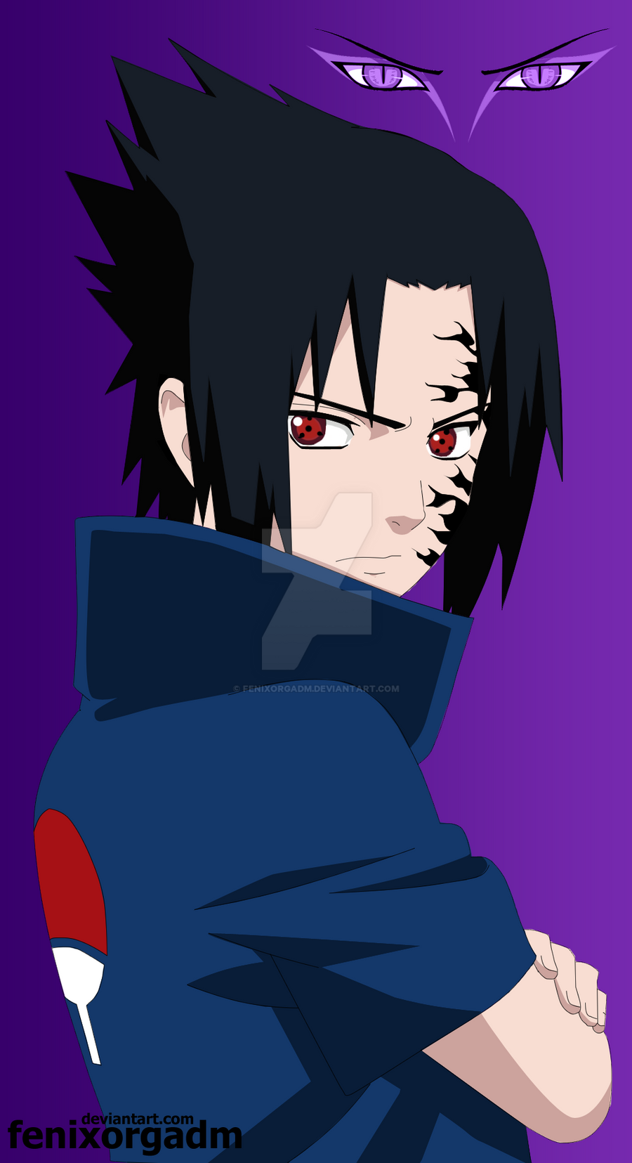 Sasuke Uchiha Curse Mark by fenixorgadm on DeviantArt