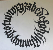 Gothic Alphabet Circle Calligraphy by Knight-of-olde