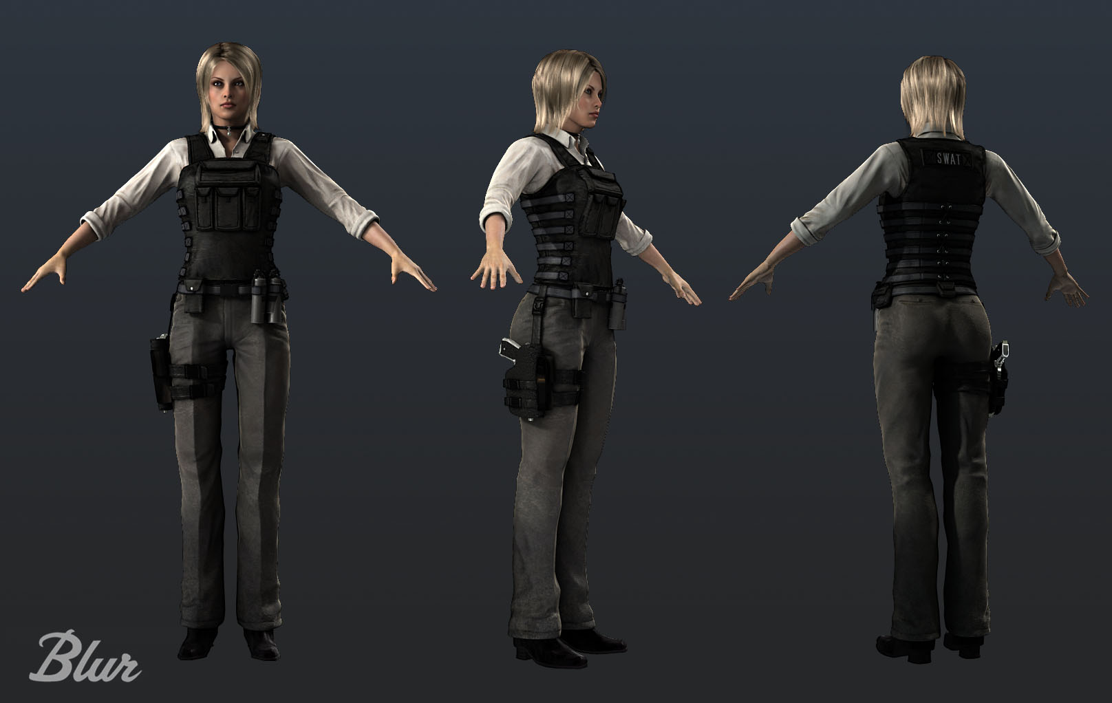 Character Design London : Blonde military female by shaunabsher on deviantart