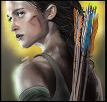 Lara Croft Tomb Raider by fullcolour-canvas