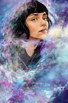 Galaxies inside her