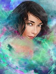 Galaxy Breath by fullcolour-canvas