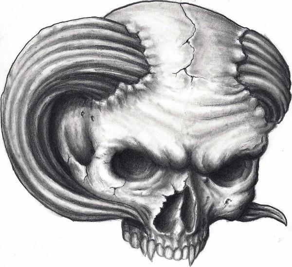 Demon Skull Drawings