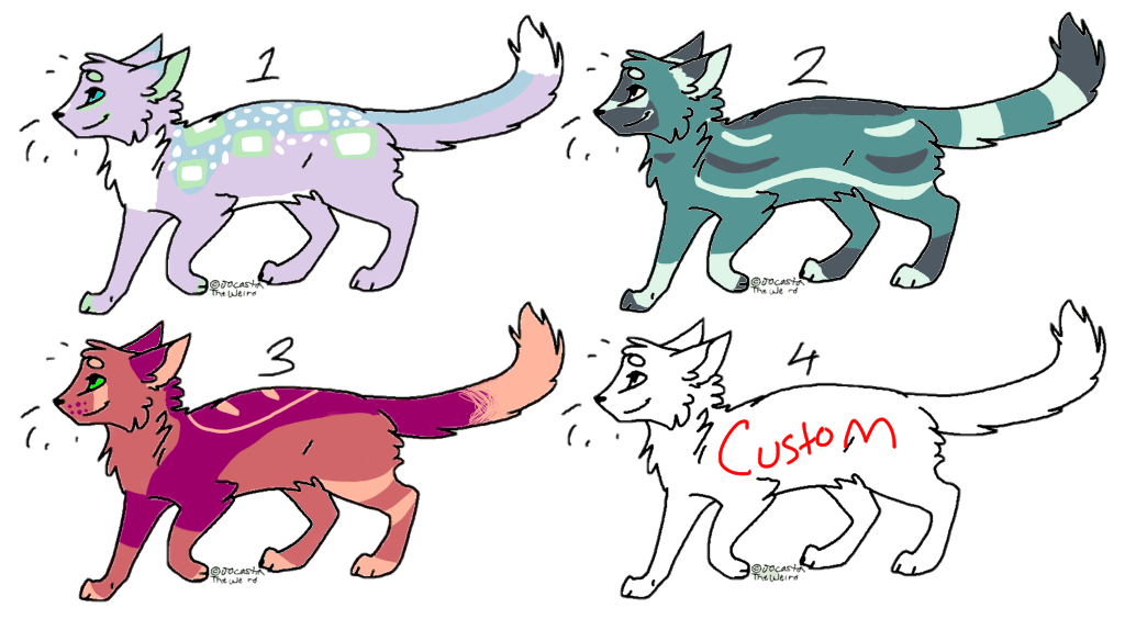 Cat Adoptables - :OPEN: by DETECTlVE