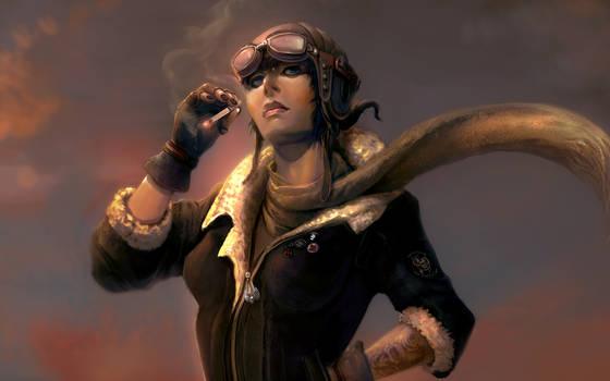 Character - Aviator woman