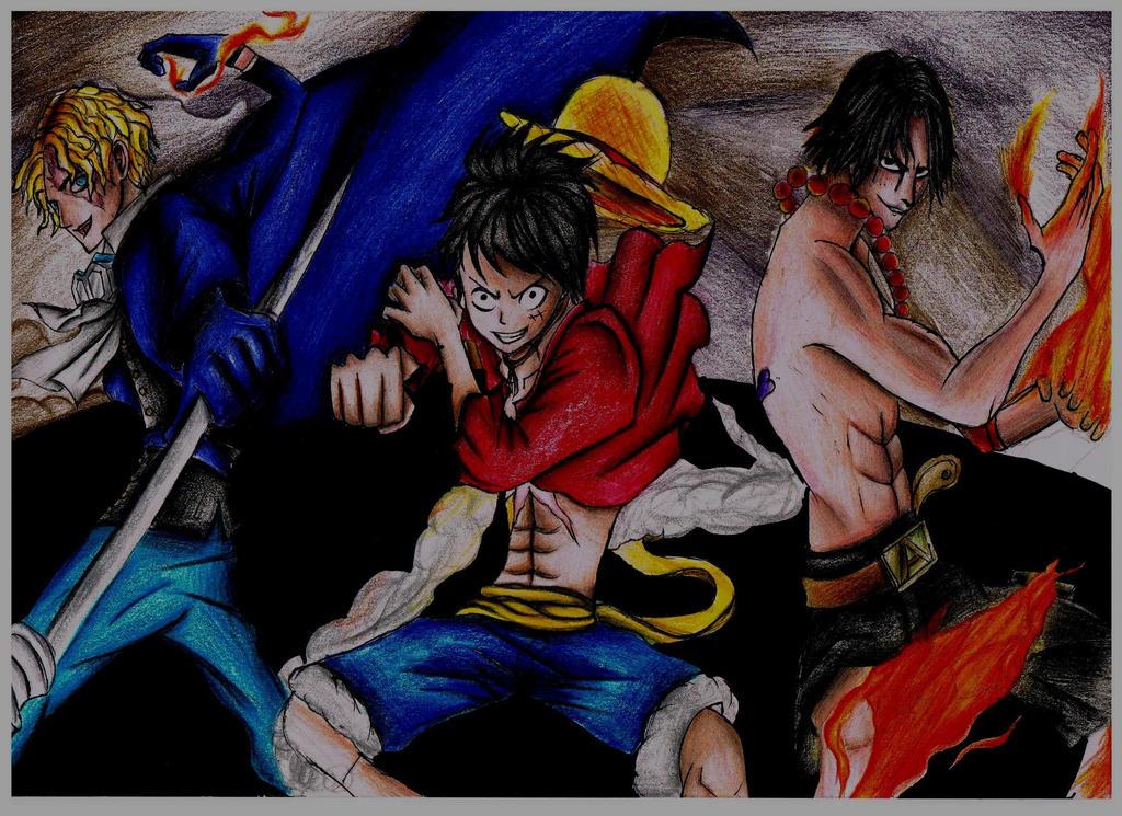 Ace Luffy Sabo One Piece by Say0Hitsugaya on DeviantArt