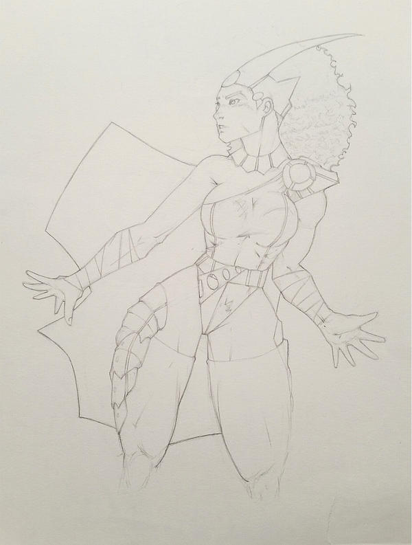 Queen Isis... w.i.p by Kobe-Barnes