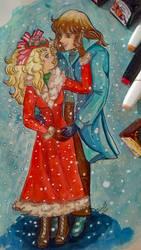 Candy y Terry en la nieve by nmarquez72