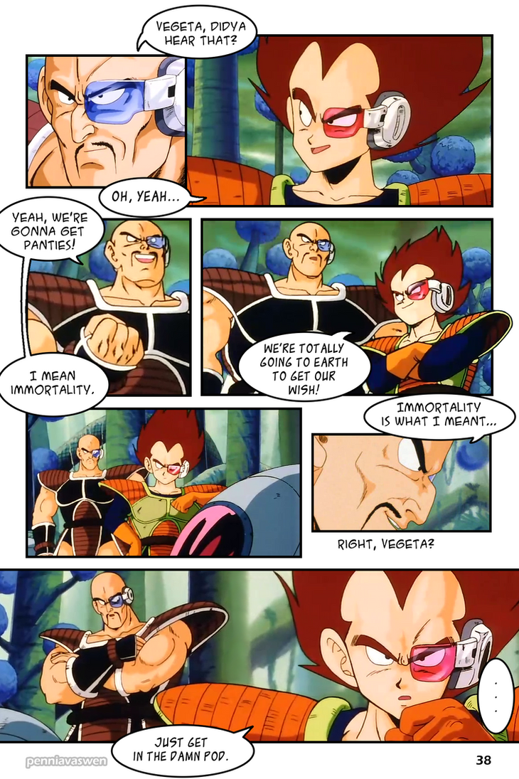 Dragonball z abridged the manga page 038 by penniavaswen on