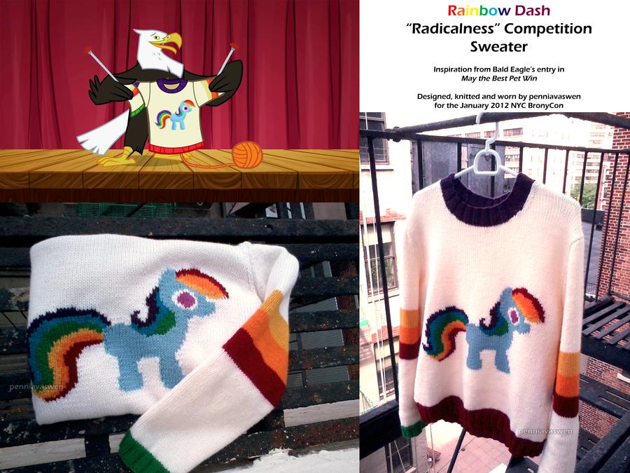 Rainbow Dash Radicalness Competition Sweater by penniavaswen