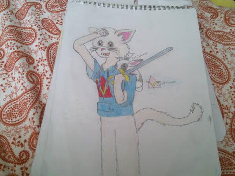 venturian as a cat by tacobell1810