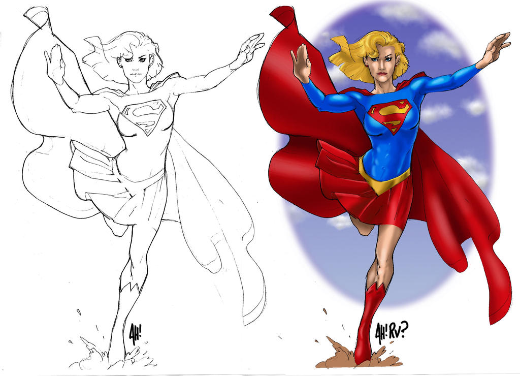 Supergirl by Adam Hughes by industrialstudios