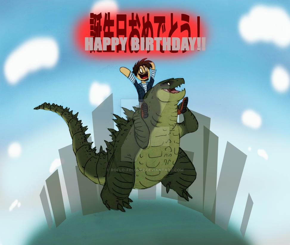 Happy 60th Birthday To Godzilla By Roflo Felorez On Deviantart