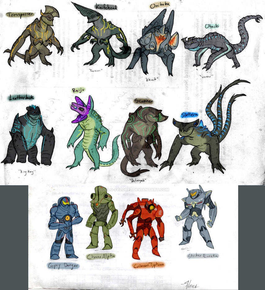 Pacific Rim - Kaiju Ask Blog version by RoFlo-Felorez on ... Pacific Rim Scunner Drawing