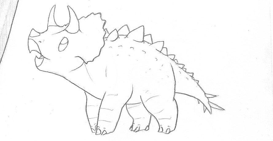 Stegoceratops baby by RoFlo-Felorez