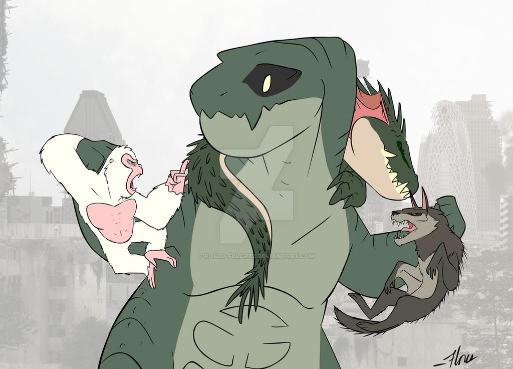 Godzilla - Rampage [COMMISSION] by RoFlo-Felorez