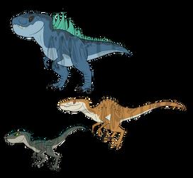 T Rex x Raptors SOLD!! by RoFlo-Felorez
