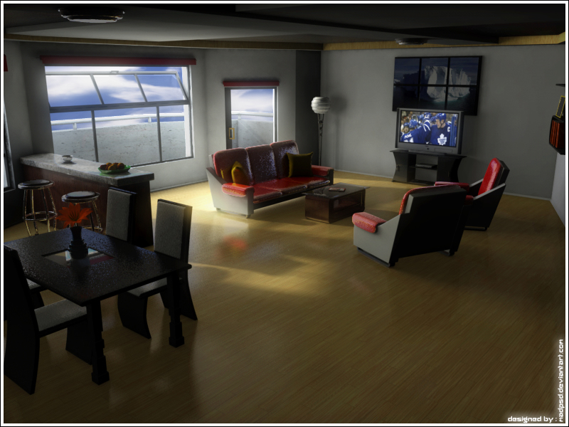 Mad living room tuxtures on by madpsd on deviantart for Living room cinema 4d