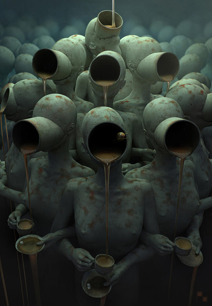 coffee-break_(Chained freedom) by AndreyBobir