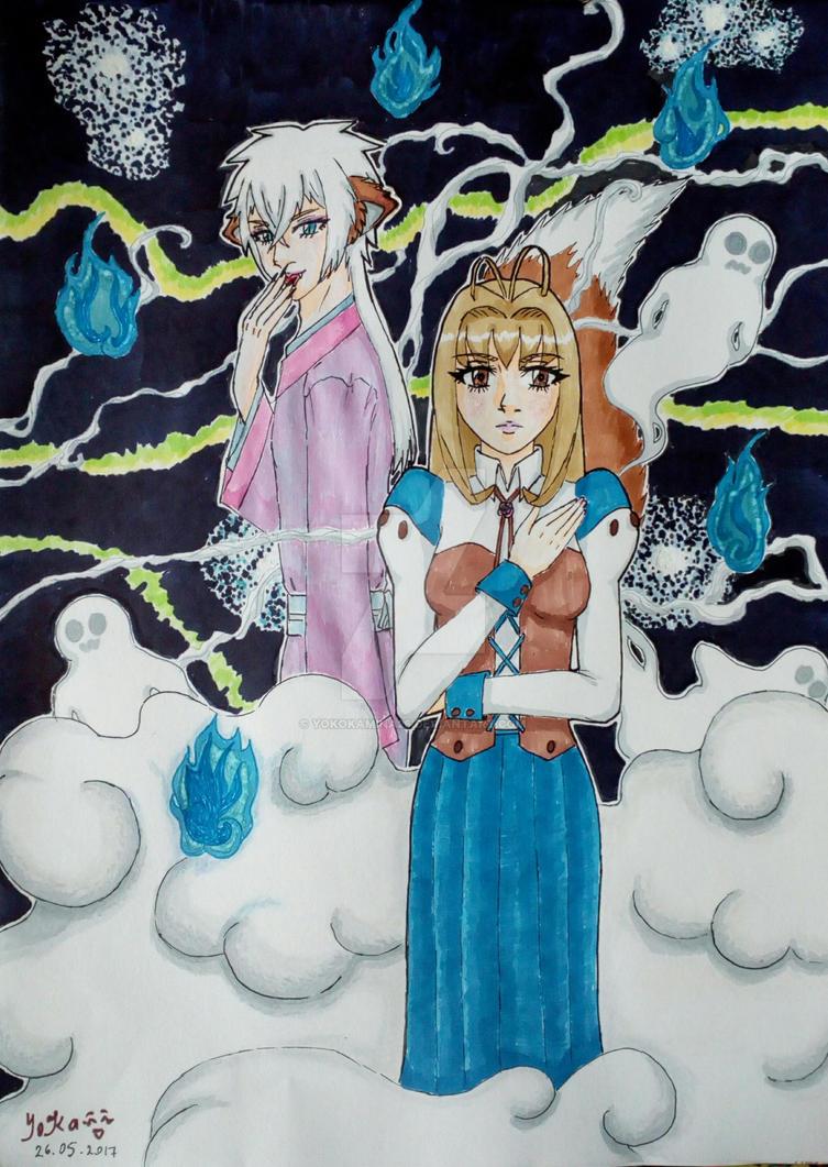 Yoko and Kafziel by YokoKamina26