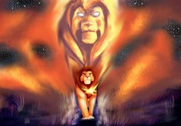 Simba and Mufasa by MyselfMasked