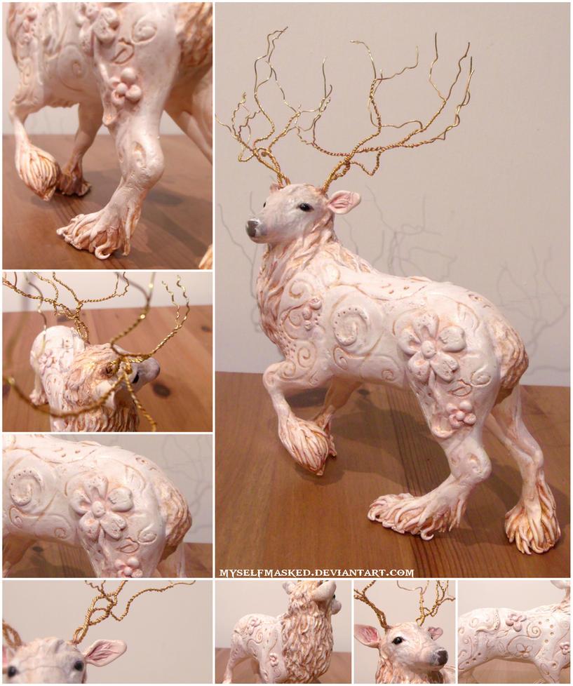 Deer Sculpture by MyselfMasked