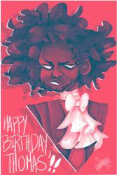 [Hamilton] Happy Birthday, Jefferson [SPEEDPAINT] by sarcellelena