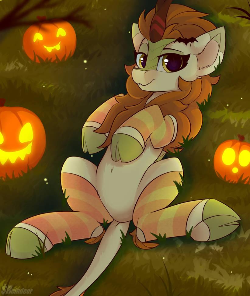 kirin_halloween__socks__by_shadowreindee