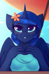 Luna on Beach