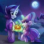 Rarity and Sweetie Belle (Halloween Collab)