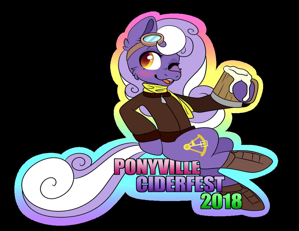 Ponyville Ciderfest 2018 Exclusive Shirt + Sticker by InkyNotebook