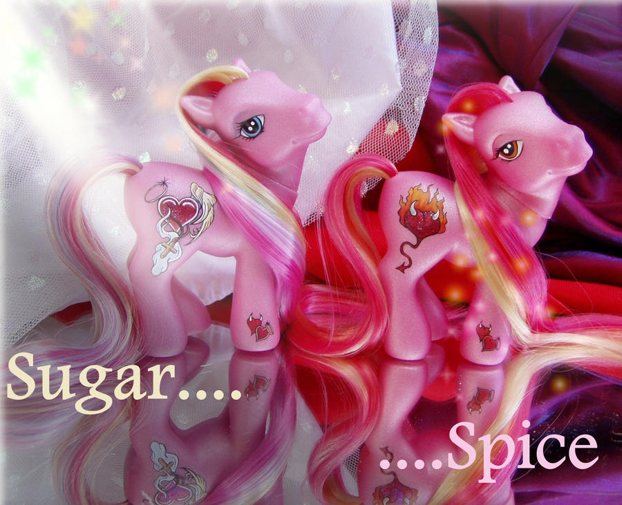 Sugar and Spice ponies by Barkingmadd
