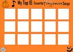 Top 15 Favorite Halloween Songs (Blank) by RazorRex