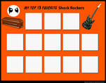 Top 13 Favorite Shock Rockers (Blank) by RazorRex