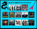 My Top 13 Favorite Power Metal Bands by RazorRex