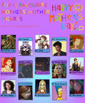 My Top 15 Best Mothers/Mother Figures by RazorRex
