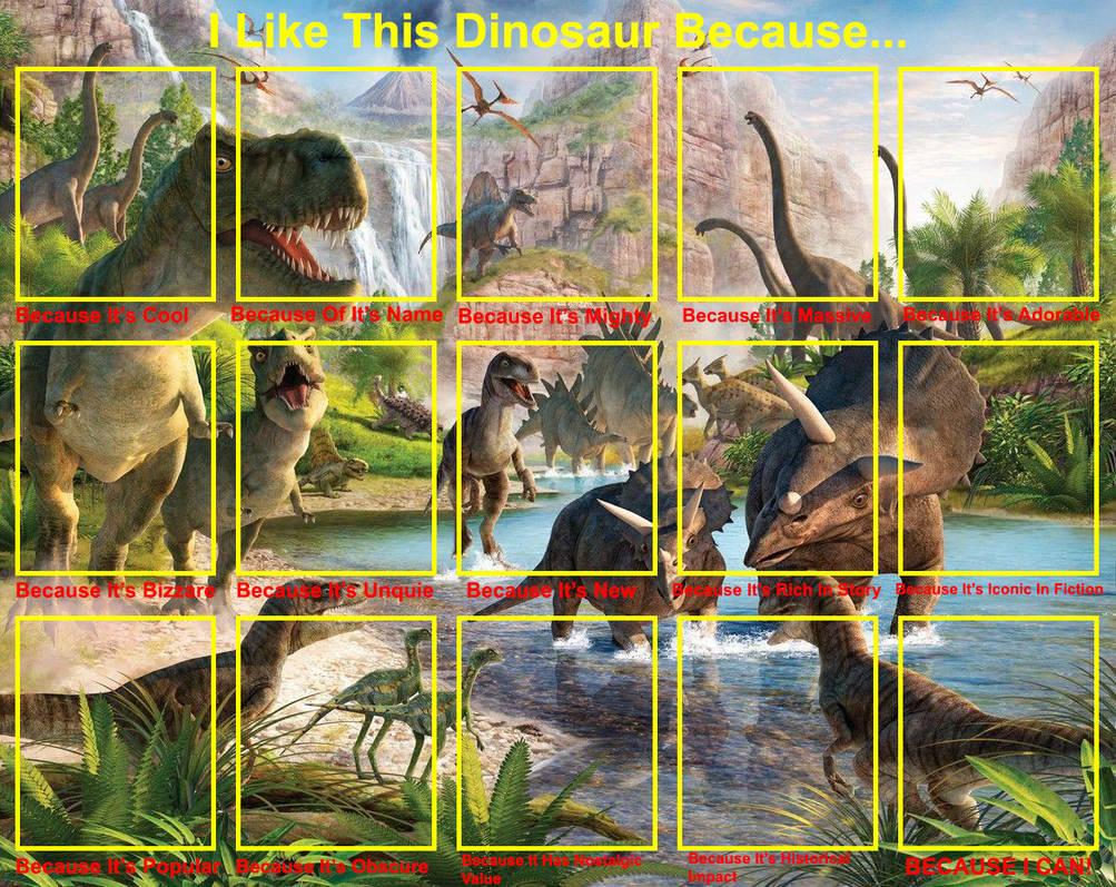 I Like This Dinosaur Because Template