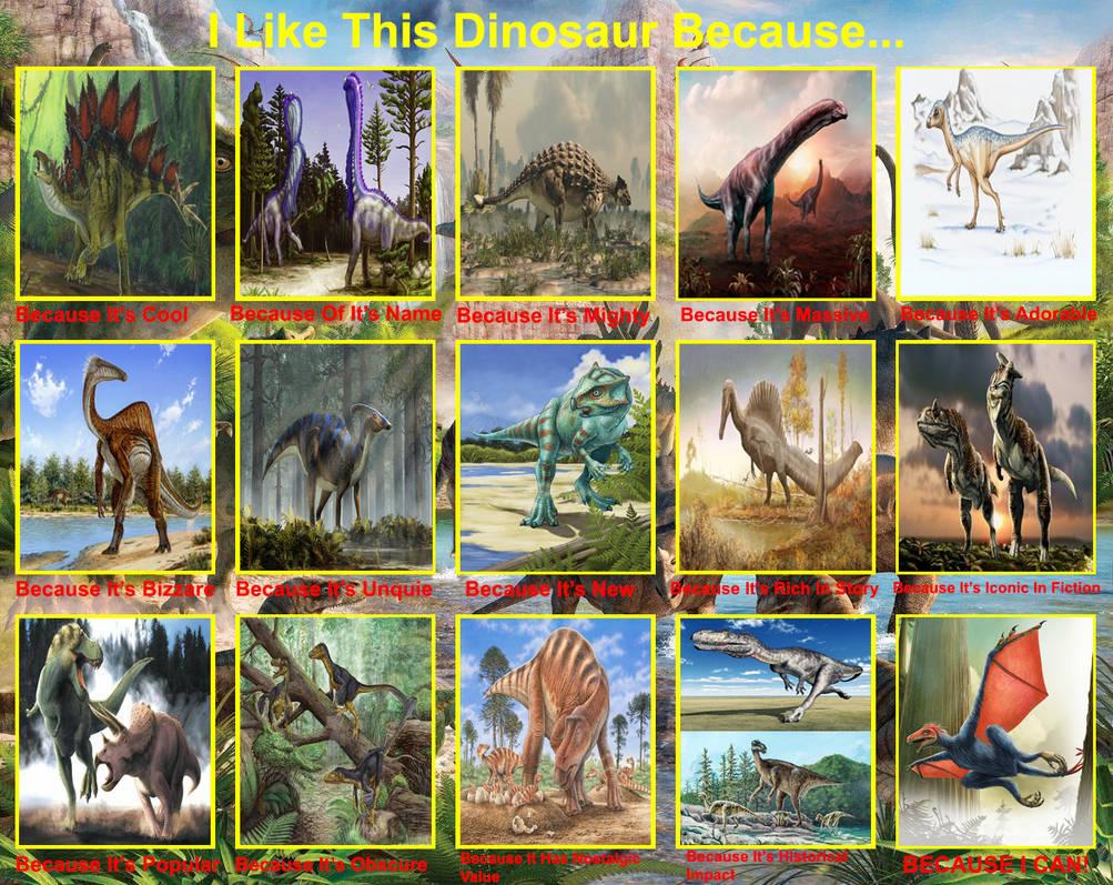 I Like This Dinosaur Because