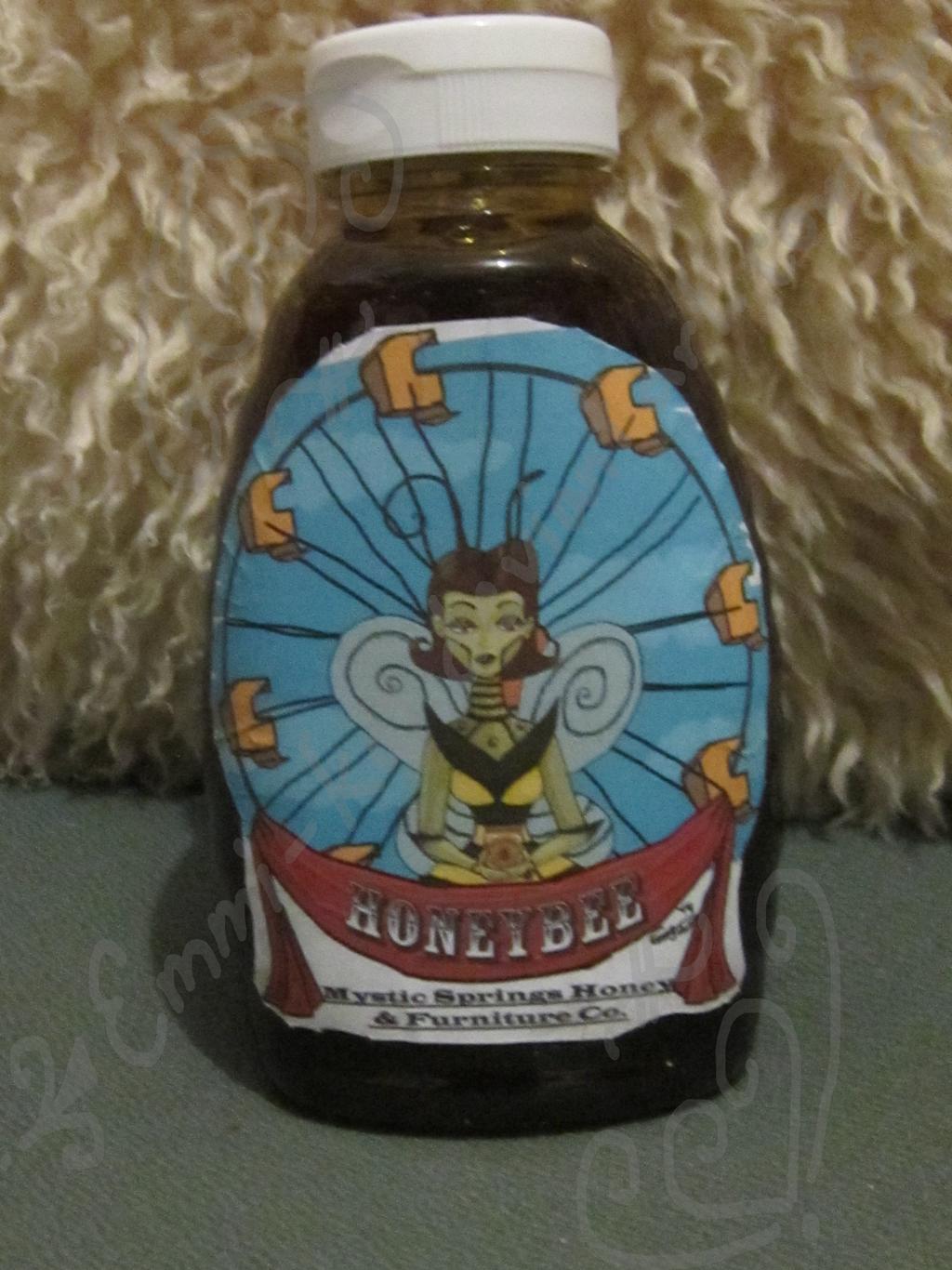 A bottle of Honeybee Honey by Emmi-Kat