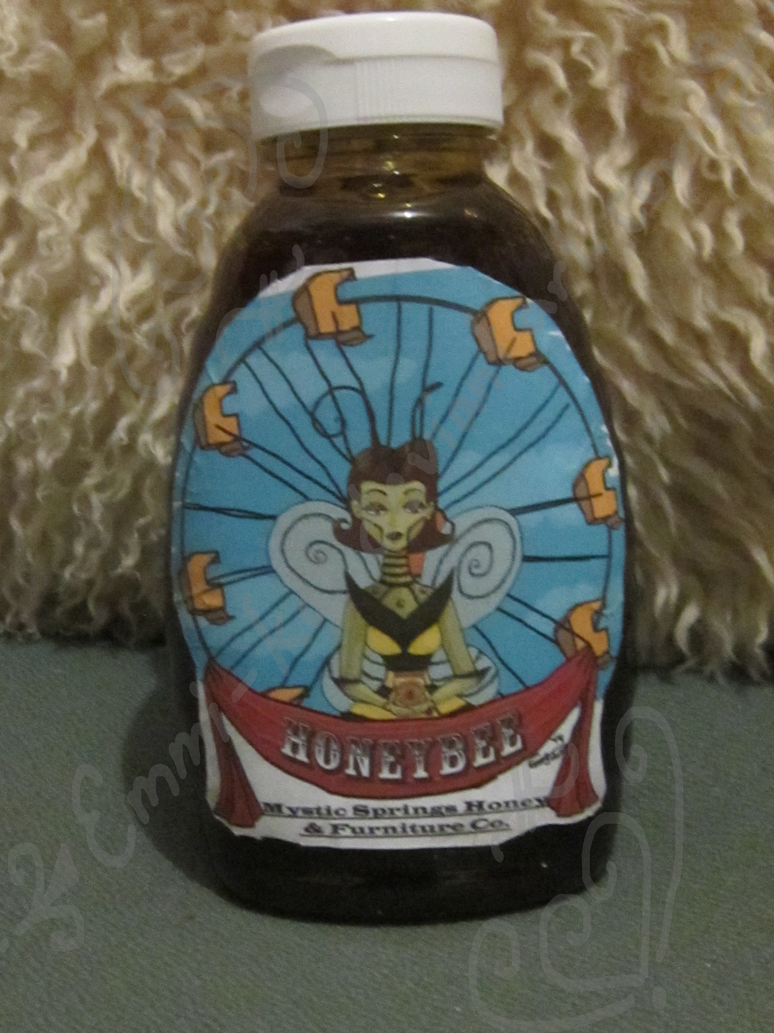 A bottle of Honeybee Honey by Emmi-Kat