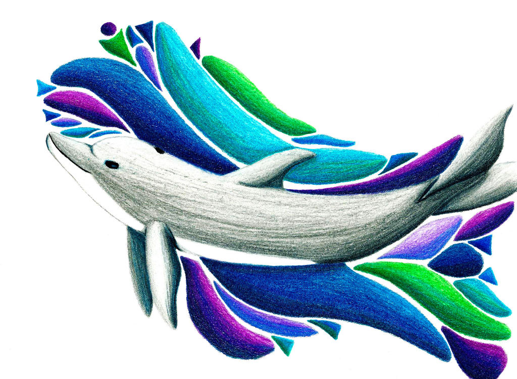 Dolphin Abstract by Kyorgra