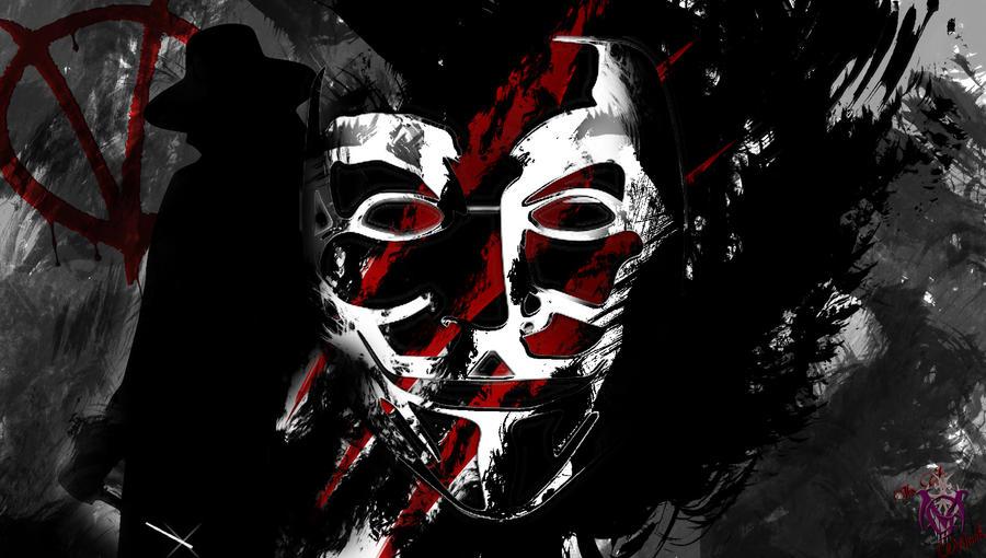 For Vendetta Mas...V For Vendetta Drawing