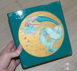 Serenity Mermaid Wood Box Painting