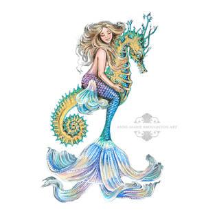 Rhiannon Mermaid White Background Version